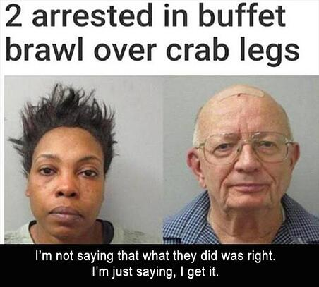 Buffet Line Fight