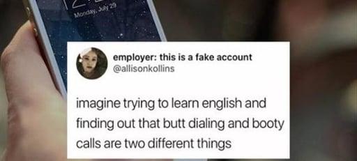 Butt dialing