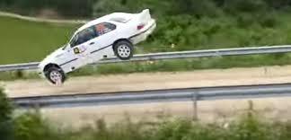 Car in the air