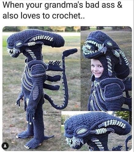 Crochet Alien