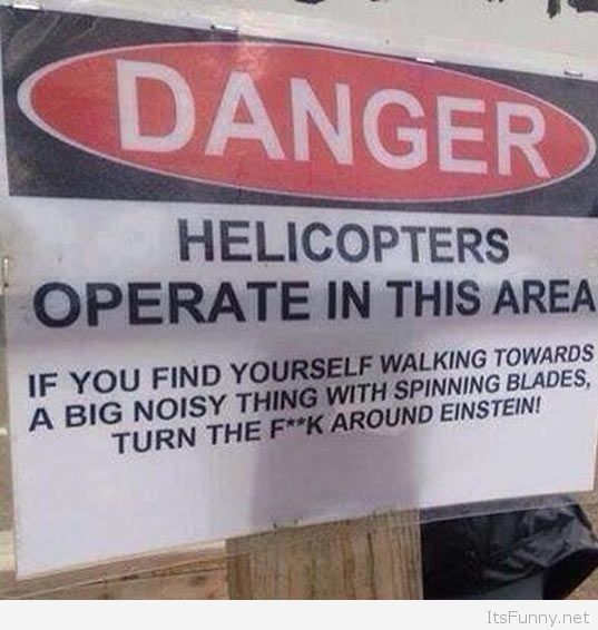 Helicopter sign