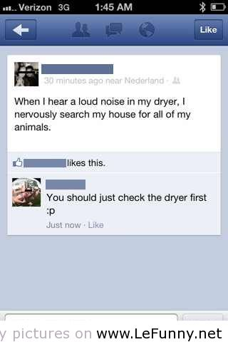 Noise in Dryer