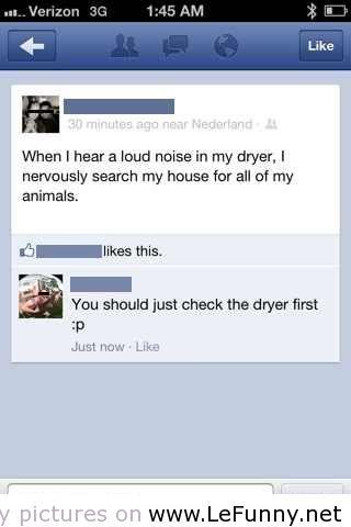 Noise in Dryer
