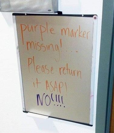 Purple Marker