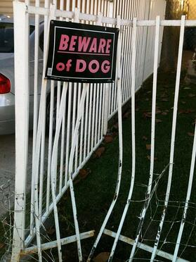 beware of loose dog